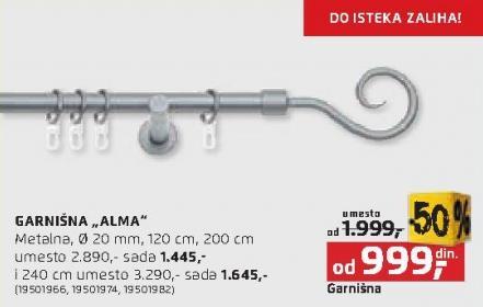 Garnišna Alma 200cm