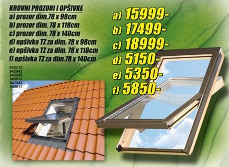Krovni prozor 78x140