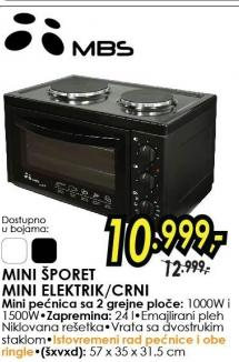 Mini Električi Šporet Elektrik