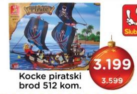 Kocke Piratski brod