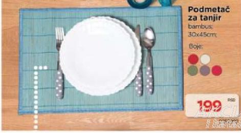 Podmetač za tanjir