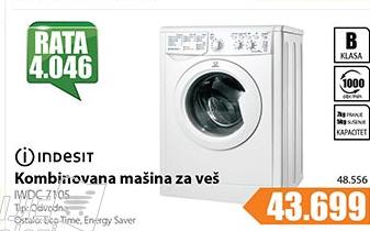 Mašina za pranje I sušenje veša IWDC 7105