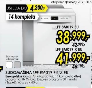 Sudomašina LFF8M019EU