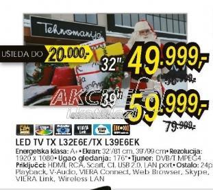 Televizor LED TX-L39E6EK