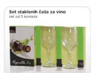 Set staklenih čaša za vino