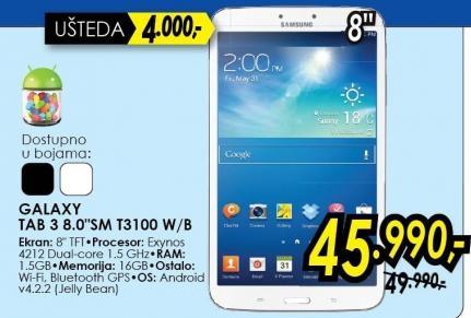 Tablet Galaxy Tab 3 8.0 Sm T3100 W/b