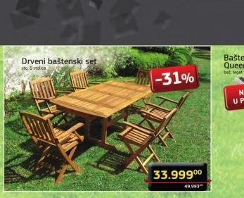 Drveni baštenski set