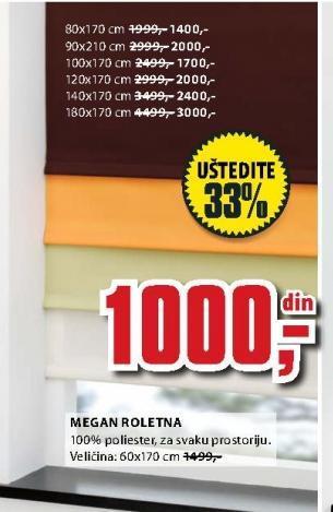 Roletna Megan 60x170cm