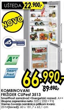 Kombinovani frižider Cupesf 3513