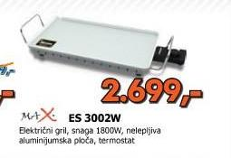Električni gril MAX 3002W