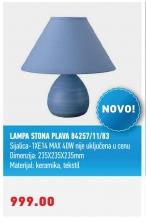 LAMPA STONA PLAVA 84257/11/83