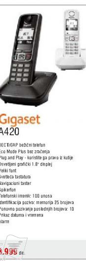 Fiksni bezicni telefon A420