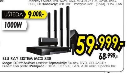 Blu-ray sistem MCS-838
