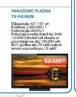 Televizor plazma TX-P42X60E
