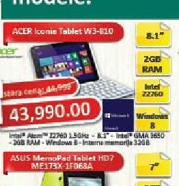 Tablet Iconia TAB W3-810