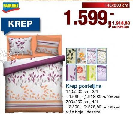 Krep posteljina 200x200cm 4/1