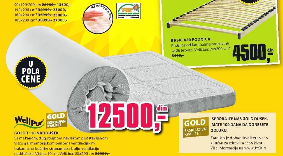 Naddušek Gold T110 140x200