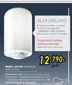 Bojler GBFU 80 SIM