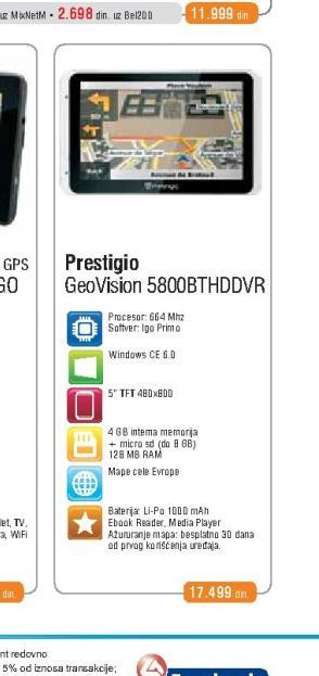 Auto Navigacija  Geovision 5800BTHDVR