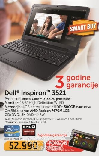 Laptop Inspiron 3521-i3-4-7670-3Y