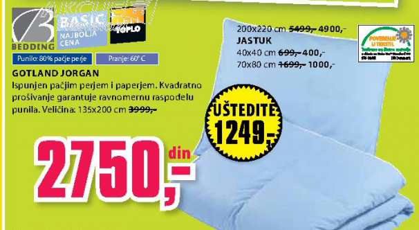 Jastuk Gotland 40x40 cm