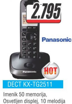 Fiksni telefon  KX-TG2511FXM