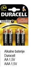 Alkalne Baterije AA
