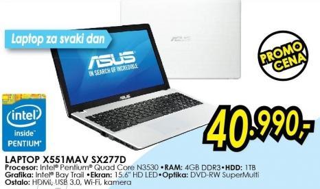 Laptop X551mav Sx277d