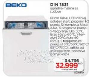 Ugradna Mašina Za Pranje Sudova DIN 1531