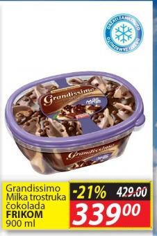 Sladoled Milka trostruka čokolada