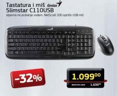 Bežični set miš i tastatura Slimstar  C110USB