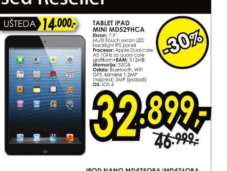 Tablet iPad Mini MD529HC/A
