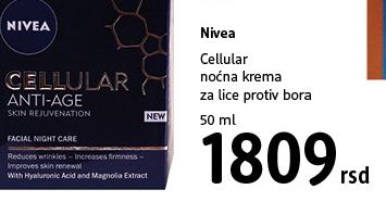 Cellular noćna krema za lice protiv bora
