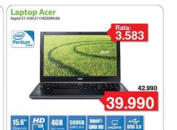 "Laptop Aspire E1-530-21174G50Mnkk 15.6"""