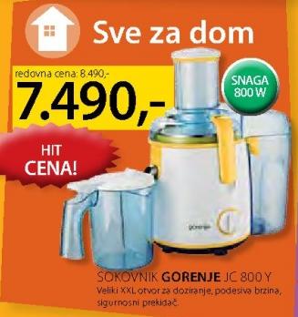 Sokovnik JC 800 Y