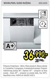 Mašina za pranje posuđa Adg 6200
