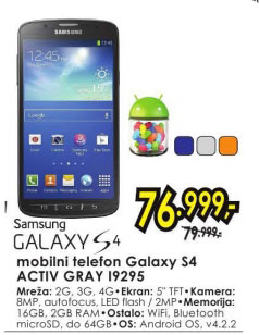 mobilni telefon I9295 S4 ACTIV