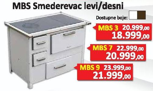 Šporet Smederevac Mbs3