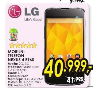 Mobilni telefon Nexus 4 E960