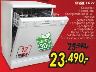 Mašina za pranje posuđa Lc 22