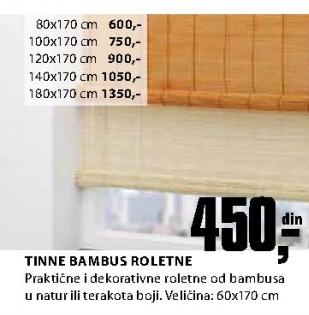 Bambus roletne Tinne, 80x170cm