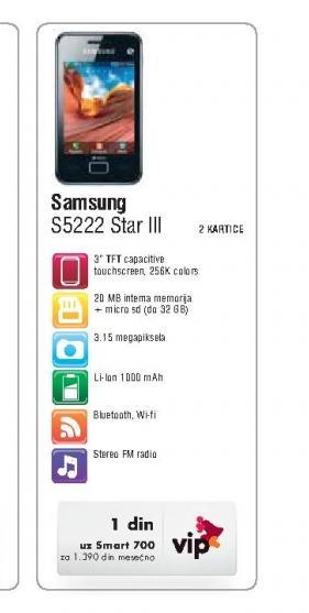 Mobilni Telefon S5222 Star III