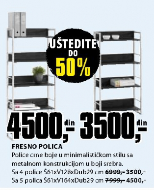 Polica Fresno sa 5 polica