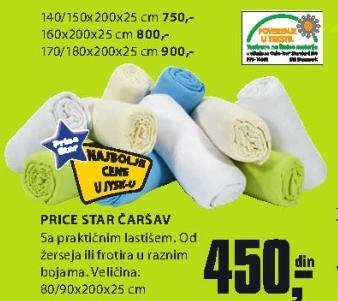 Čaršav Price Star 140/150x200x25