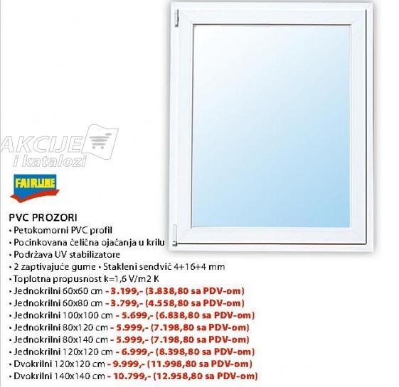 Pvc Prozor Jednokrilni 60x80