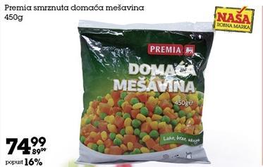 Smrznuto povrće domaća mešavina