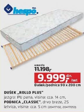 Dušek Rollo Plus sa podnicom Hespo