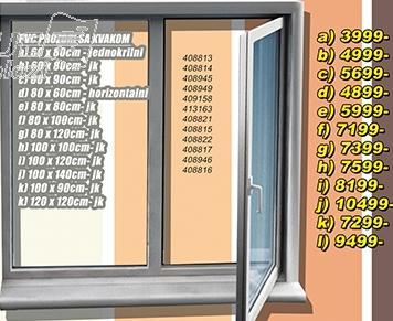 Prozor PVC sa kvakom 60x80 jk