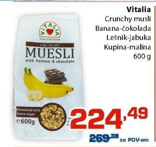 Musli banana i čokolada