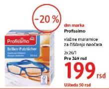 Vlažne maramice za naočare